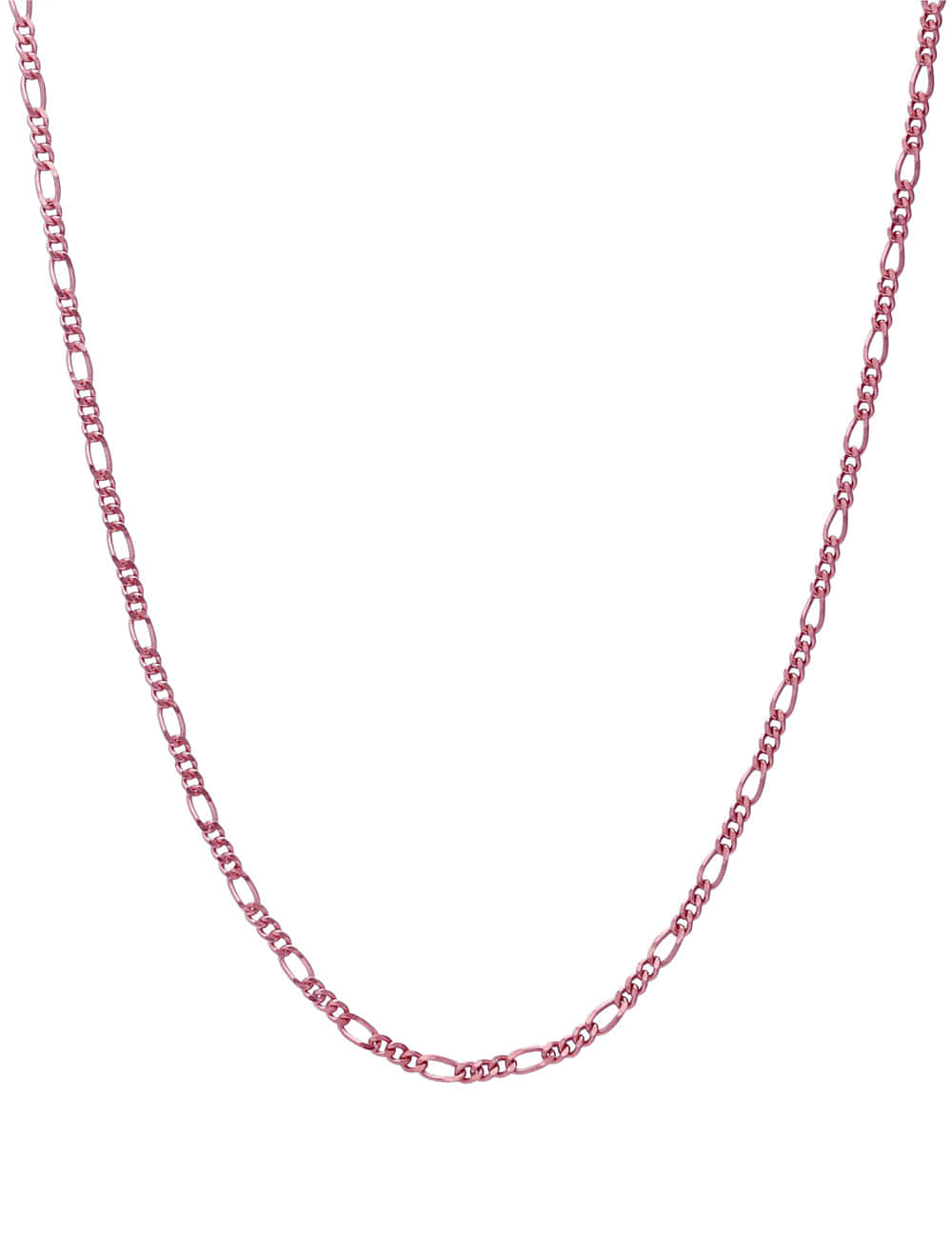 925 Silver Color Coated Chain Necklace _ 블랙 핑크 브라운 체인목걸이 라비쉬에