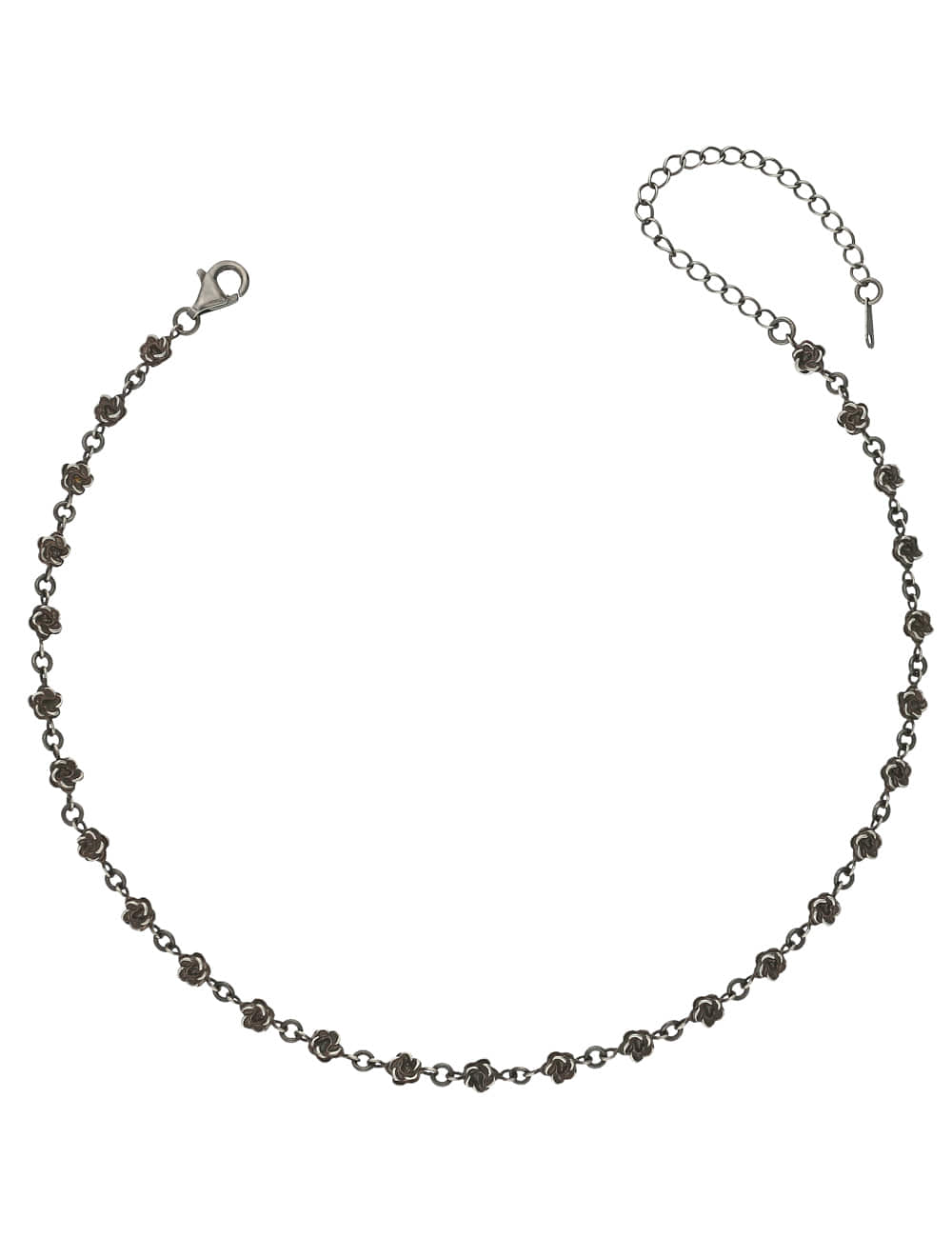 925 Silver Rose and Mugunghwa Antique Choker Necklace _ 빈티지 장미 초커 라비쉬에